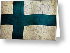 Grunge Finland Flag Greeting Card