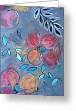 Grunge Floral II Greeting Card
