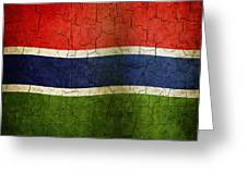 Grunge Gambia Flag Greeting Card