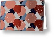 Grunge Geometric Background. Vector Greeting Card
