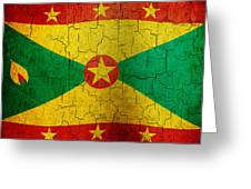 Grunge Grenada Flag Greeting Card