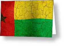 Grunge Guinea-bissau Flag Greeting Card