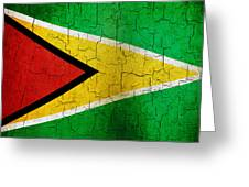 Grunge Guyana Flag Greeting Card