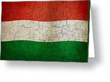 Grunge Hungary Flag Greeting Card