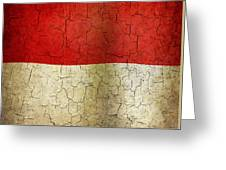 Grunge Indonesia Flag Greeting Card