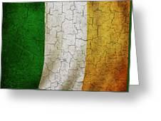 Grunge Ireland Flag Greeting Card