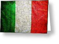 Grunge Italy Flag Greeting Card