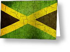 Grunge Jamaica Flag Greeting Card