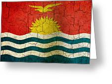 Grunge Kiribati Flag Greeting Card