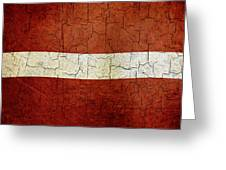 Grunge Latvia Flag Greeting Card