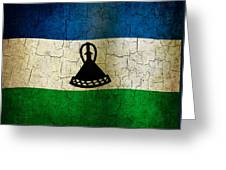 Grunge Lesotho Flag Greeting Card