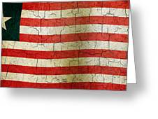 Grunge Liberia Flag Greeting Card