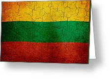 Grunge Lithuania Flag Greeting Card
