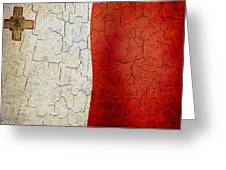 Grunge Malta Flag Greeting Card