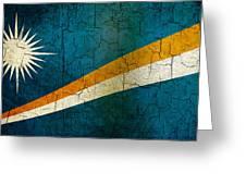 Grunge Marshall Islands Flag Greeting Card