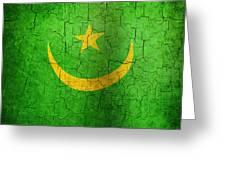 Grunge Mauritania Flag Greeting Card