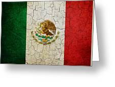 Grunge Mexico Flag Greeting Card