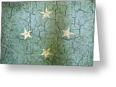 Grunge Micronesia Flag Greeting Card