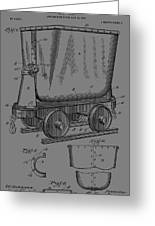 Grunge Mine Trolley Patent Greeting Card