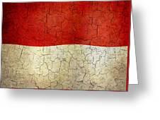 Grunge Monaco Flag Greeting Card