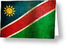 Grunge Namibia Flag Greeting Card