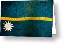 Grunge Nauru Flag Greeting Card