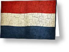 Grunge Netherlands Flag Greeting Card