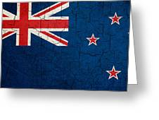 Grunge New Zealand Flag Greeting Card