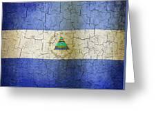 Grunge Nicaragua Flag Greeting Card