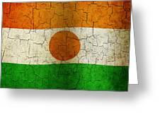 Grunge Niger Flag Greeting Card