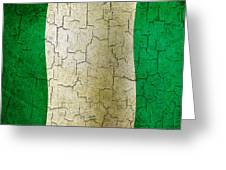 Grunge Nigeria Flag Greeting Card