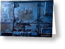Grunge Old Metal Texture Greeting Card