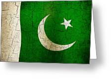 Grunge Pakistan Flag Greeting Card