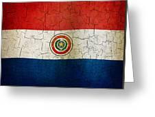 Grunge Paraguay Flag Greeting Card