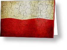 Grunge Poland Flag Greeting Card