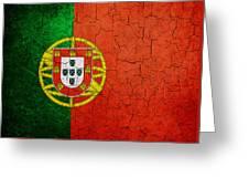 Grunge Portugal Flag Greeting Card