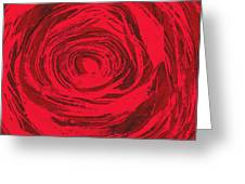 Grunge Rose Greeting Card