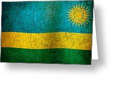 Grunge Rwanda Flag Greeting Card
