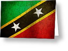 Grunge Saint Kitts And Nevis Flag Greeting Card