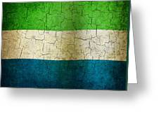 Grunge Sierra Leone Flag Greeting Card