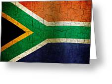 Grunge South Africa Flag Greeting Card