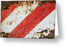 Grunge Stripe Background Greeting Card
