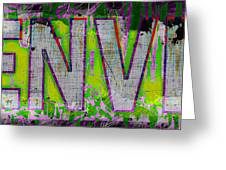 Grunge Style Denver Sign Greeting Card