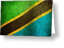 Grunge Tanzania Flag Greeting Card
