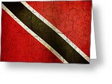 Grunge Trinidad And Tobago Flag Greeting Card