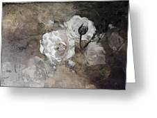 Grunge White Rose Greeting Card