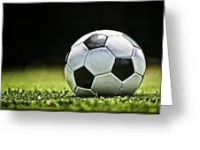 Grungy Grainy Soccer Ball E64 Greeting Card