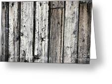 Grungy Old Wood Background Greeting Card