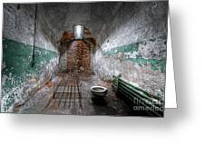 Grungy Prison Cell Greeting Card
