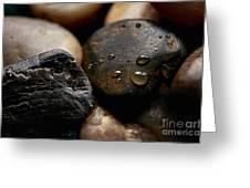 Rocks And Drops Greeting Card